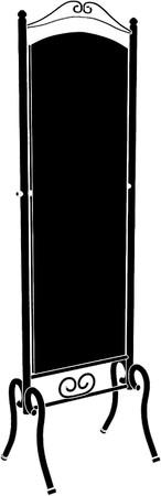 Antique Mirror  Vector