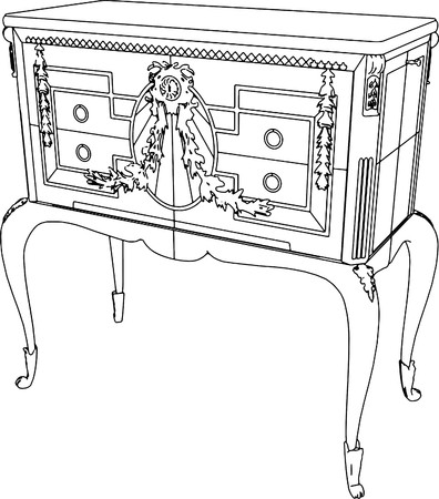 baroque furniture: Antique Commode