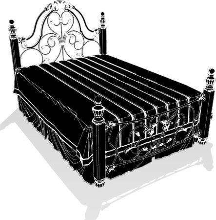 baroque furniture: Antique Bed