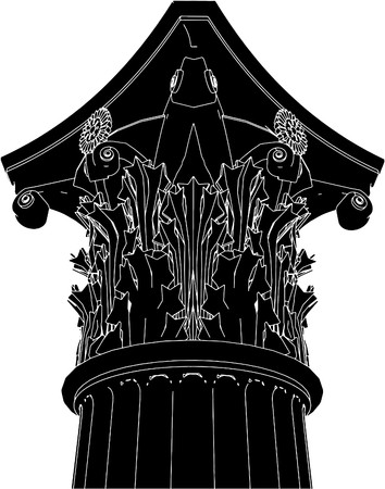 Greek Corinthian Column Vector