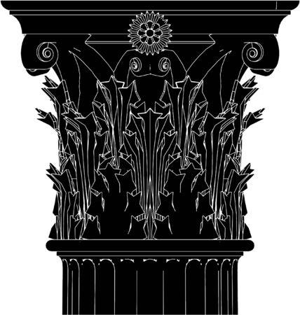 columna corintia: Columna Corinto griego