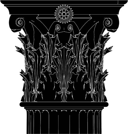 Greek Corinthian Column Stock Vector - 7909026