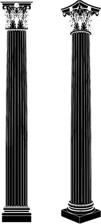 roman column: Greek Corinthian Column Illustration