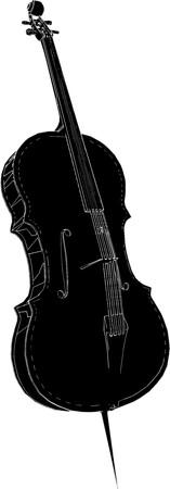 cello: Violoncello Vector
