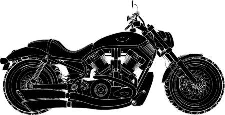 silueta moto: Vector de la motocicleta