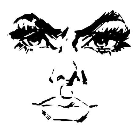 ojos anime: Vector de cara de la mujer hermosa