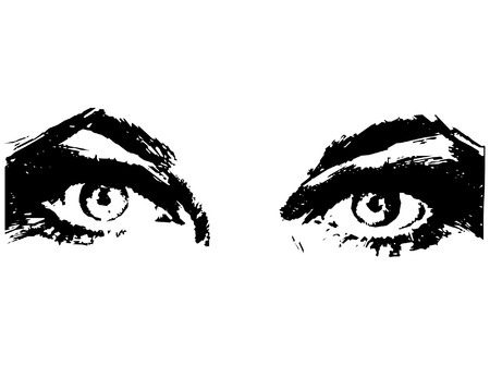 maquillage: Beautiful Womans Eyes Vector
