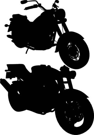 motorbike jumping: Motorcycle Vector