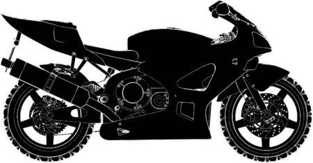 motorbike jumping: Motorcycle Vector