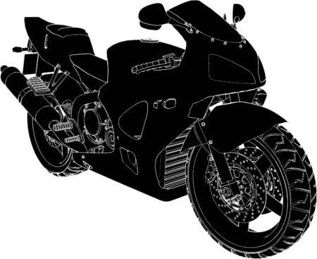 recreational vehicle: Motorcycle Vector