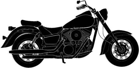 casco moto: Vector de motocicleta Vectores