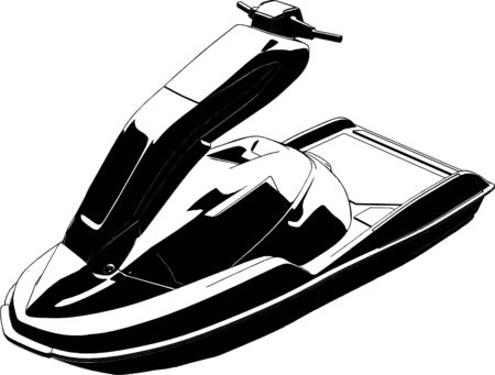 outboard: Jet Scooter Vector