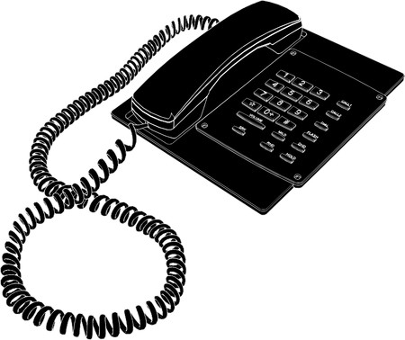 ringing: Phone Vector
