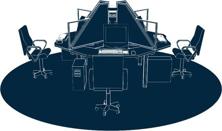 office furniture: Working Place Office Vector