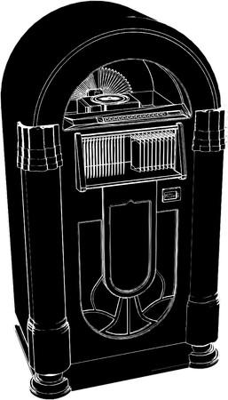 предмет коллекционирования: Jukebox Vector Иллюстрация