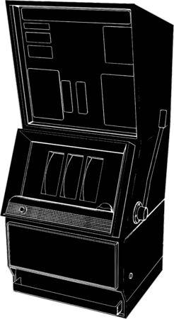 Jackpot Casino Slot Machine Vector Vector