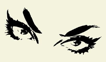 maquillage: Woman Eyes   Illustration