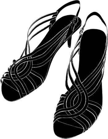 Woman Shoes Sandals  Vector