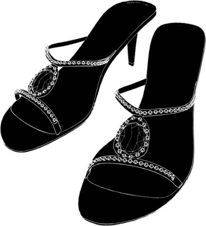 Woman Shoes Sandals  Vector