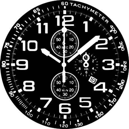 Clock Watch Vector Stock Vector - 7979138
