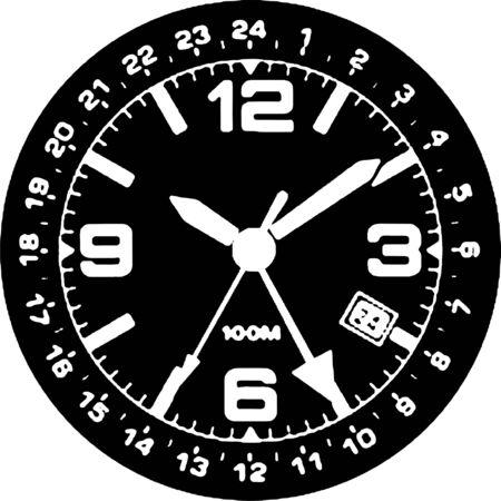 Clock Watch Vector Stock Vector - 7979123