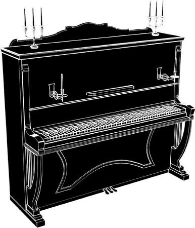 drawing instrument: Piano Vector Illustration