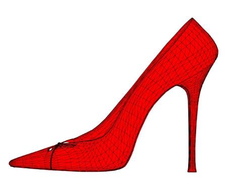 woman in red dress: Woman Shoes