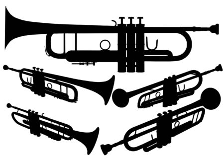 trumpet vector: Brass Trumpet Vector Illustration