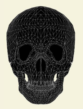ghost rock: Human Skull Vector