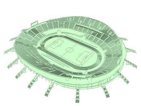 Football Soccer Stadium Vector Vector