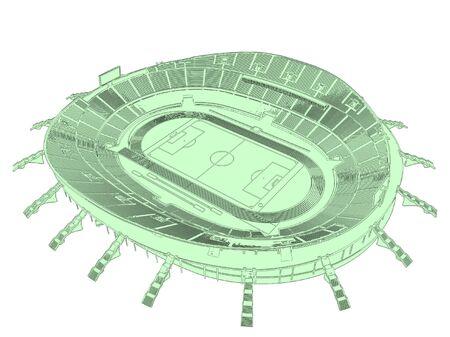 soccer stadium: Vector de estadio de f�tbol Soccer