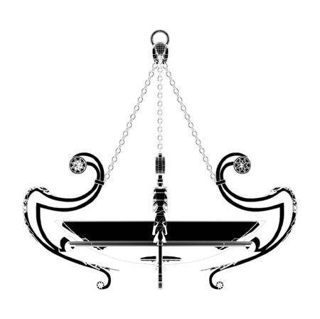 irradiate: Vector de lustre Chandelier