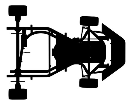 karting: Karting Car Vector Illustration