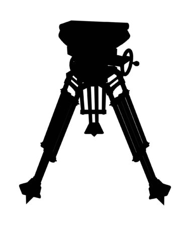 Tripod Camera Stand Vector Stock Vector - 7979200
