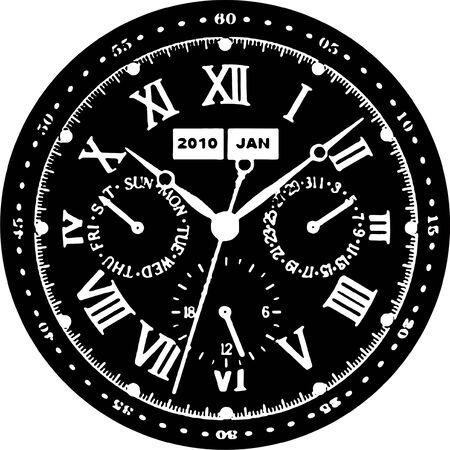 Clock Watch Vector Vector