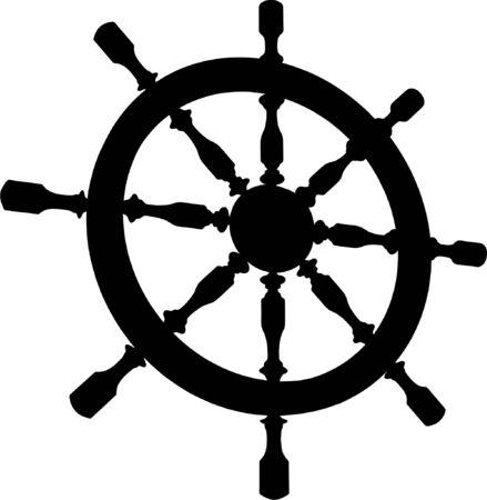 timon de barco: Vector de volante de tim�n