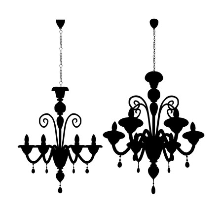 chandelier isolated: Luster Chandelier Vector
