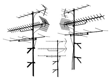 cable de red: Vector de antena Vectores