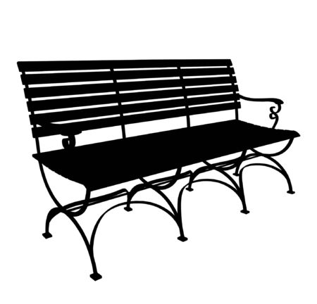 park bench: Park Bench Vector Illustration