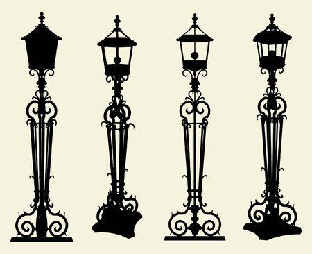 streetlamp: Candelabra Street Light Vector