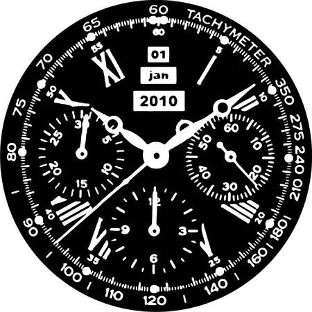 Clock Watch Stock Vector - 8002401