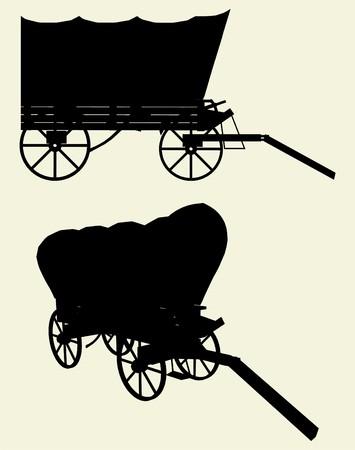 carreta madera: Entrenador de escenario de occidental Wagon