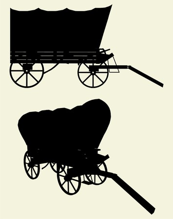 Western Stage Coach Wagon Stock Vector - 8002392