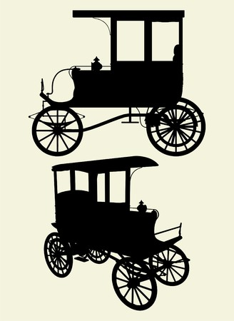 Victorian Cabs Carriage  矢量图像