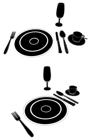 silver service: Service Table Set