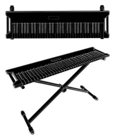 synthesizer: Electronic Synthesizer Illustration