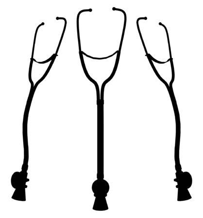 Cardiologist Stethoscope Stock Vector - 8002427