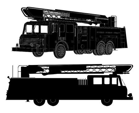 Fire Engine  矢量图像
