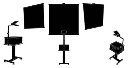 간접비: Projection Screen With Overhead Projector