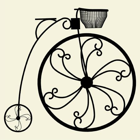 Penny-Farthing Bicycle Illustration